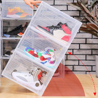 Clear Magnetic Stackable Dustproof Shoes Storage Container D...