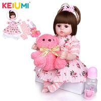 """New Keiumi Reborn Baby Doll Vendita calda Girl Doll Bambola morbida Bambino Baby Bambola rinata per bambini 18 """"48 cm Boneca Dono fai da te per bambini LJ201031"""
