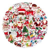 شجرة عيد الميلاد ملصقات شكرا لك الجدار سيارة ملصقا نوم جدار ديكور للماء سانتا كلوز ورقة بوثار الثلاجة كوب المياه 3 5xq m2