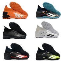 Predator Mutator 20.3 TF Mens High Ankle Boots Soccer Shoes Top Quality Indoor Leather Laceless Trainers Turf Socks Football Cleats US6.5-11