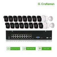 16CH 5MP الصوت poe كيت H.265 نظام الأمن الدوائر التلفزيونية المغلقة NVR في الهواء الطلق للماء IP كاميرا مراقبة إنذار الفيديو تسجيل الفيديو G.1