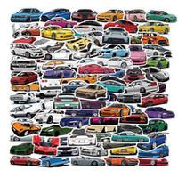 100 قطع الكثير كل أنواع ملصقات السيارات JDM الكرتون سيارة رودستر كتابات ملصقات الدراجة الأمتعة محمول لوح التزلج زجاجة المياه الشارات