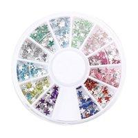 Equipo de arte de uñas 300 PCS 3mm Star Crystal Decorations Glitter Rhinestone Wheel