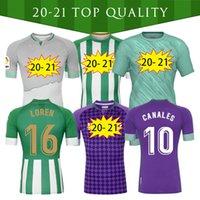2021 Real Betis Soccer Jersey Bartra B.iglesias 17 Joaquin 10 Canais Homens + Kit Kid Camiseta de Fútbol Juanmi Fekir Futebol