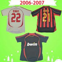 Camiseta del AC Milan 2006 2007 retro Camiseta de fútbol de la vendimia local visitante tercero 06 07 clásico ac Maglia da calcio MALDINI RONALDO MILAN PIRLO SEEDORF