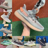 Alta Qualidade Kanye V2 Reflexivo Oeste Zebra Fade Carbono Natural Israfil Cinder Terra Zyon Oreo Mens Correndo Sapatos Mulheres Designers Sneakers