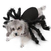 هالوين كلب الملابس القطيفة العنكبوت خلع الملابس للكلاب الصغيرة القطط تأثيري مضحك حزب جرو حلي ل chihuahua يوركي LJ201130