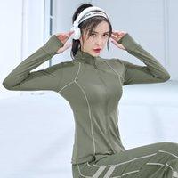 Урожай спортивной куртка с длинным рукавом профессиональный бегущий тренировка йога одежда спортивная куртка женская культура верхняя одежда женская одежда