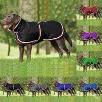 الاستمرار الدافئة كلب الملحقات شريطية الخريف الشتاء متعدد الألوان الحيوانات الأليفة معطف متوسطة كبيرة الكلاب الملابس الأزياء 30AS P2