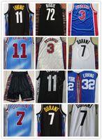 Haute qualité Mens Vintage Vintage Classique Drazen 3 Petrovic Julius 32 erving 72 Biggie Basketball Jerseys pas cher Kevin 7 Durant Irving Jersey