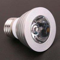 Newest Design E27 3W 85V-265V 16-color Remote Control Dimmable Spotlight and high quality LED Spotlights brightness Lighting