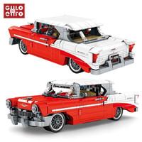 Teknik Klasik Kırmızı Vintage Araç Yapı Taşları Şehir Geri Çekin Araba Yaratıcı Fikirler Tuğla Çocuk Oyuncakları Doğum Günü Hediyeleri LJ200928
