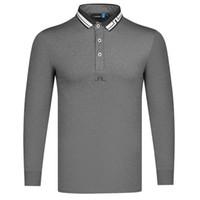 Весна осень новый с длинным рукавом футболка для гольфа мода повседневная отворот JL мужская одежда открытый спортивный отдых рубашка Y1112