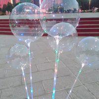 Globo Luminosos Globo Luces LED de 20 pulgadas Globos 70 cm Poste 3M 30LEDS Luz de cadena para festival de bodas Festival Decoraciones luminosas