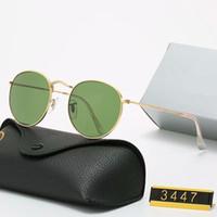 Yeni Tasarım Polarize Lüks Işın Güneş Gözlüğü Erkekler Kadınlar Pilot Güneş Gözlüğü UV400 Gözlük Yalın Gözlük Metal Çerçeve Polaroid Lens 3447 Kutusu Ile