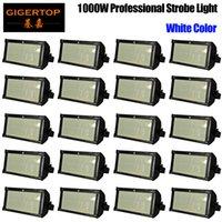 Vendita calda AC90-240 V 1000W LED Bianco Mini Stage Strobe Light Lampada Lampada Lampada Apparecchio supportato Sound attivato / Auto-counking / DMX512