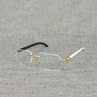 Ienbel Натуральная древесина квадратная яркая буйвола рожка рожка случайная рамка для мужчин читать оптическое овальное глазное стекло 5dho