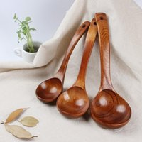 1pcs Natural Wood Soup Soup Scoop Scoop DinnerWare1