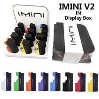 Kalın Yağ Kartuşları Original için 12CT 650mAh Onceden VV Gerilim Mod Otantik Imini V2 Pil Paketi In Görüntü Kutusu