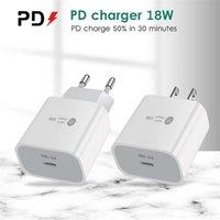 Тип-С 18 Вт PD Быстрая зарядка 18 Уолта Power QC3.0 Устройство быстрого зарядного устройства на стене Устройство мобильного телефона с портом USB-C для iPhone 12
