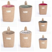 Jute Storage Baskets Storage Box Creative Dormitory Door Han...
