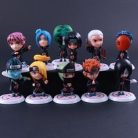 11pcs Anime Naruto Akatsuki 11 Personne Action Figure Collection Artworks Plastique Figura Brinquedos Collectionnable PVC Crafts Y0112