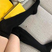 Luxus Warme Knie Socken Marke Buchstaben Lange Strümpfe Frauen Designer Strümpfe über Knieschenkel Hohe Strümpfe Socken Strumpfhosen Strumpfhosen