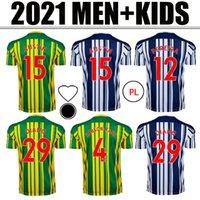 2020 2021 جديد غرب لكرة القدم الفانيلة Livermore Diang Brunt Bromwich Albion home بعيدا 3rd 20 21 الرجال + أطفال كيت قميص كرة القدم