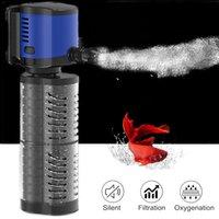 Sunsun silencioso 4 en 1 acuario interna filtro de la bomba sumergible de pescado Bomba de agua del tanque Filtro de Ondas de la resaca de la bomba de circulación de oxígeno C1115