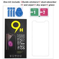 9H temperli cam Ekran Koruyucu iPhone 12 11 Pro Max XS XR 7/8 Artı Samsung 0.3mm kalınlık için