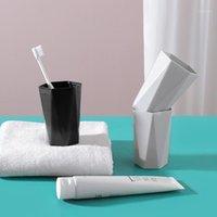 تنظيم تخزين الحمام 2505 موجزة الغرغرة كوب شرب المياه الزجاج هندسة الماس فرشاة واحدة الأسنان عشاق الأسنان المنزلية