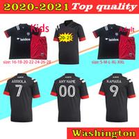 2020 축구 워싱턴 DC United Jersey 8 Ulises Segura 9 Wayne Rooney Ola Kamara 7 폴 Arriola Asad Frederic Brillant 축구 셔츠 키트