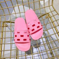 Mujeres al aire libre Piscina deportiva Sandalias de caucho Sandalias Pisos Zapatillas Causas de interior con patrón de firma Corte