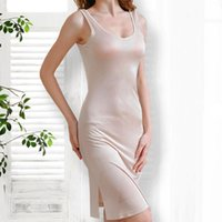 50% de seda natural Tallas grandes Gecelik Sexy sleepwear vestido de noche Pijamas Nightgown Mujeres de noche vestido de noche vestido de noche vestido de dormir 201204
