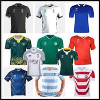 2019 Fiji Rugby Jersey Nueva Zelanda Camisa Japón Copa Mundial Australia Sudáfrica Gales Gales Argentina Samoa Rugby Jersey S-3XL