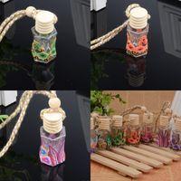 Flor padrão transparente garrafas pingente macio ceramics vazio garrafa de vidro ornamento de automóvel decoração de decoração de casa novo 1 35HL J2
