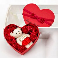 Valentine' s Day Rose Gift Box 10 Flowers Soap Flower Gi...