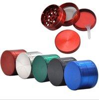 DHL Free 40mm 50mm 55mm 63mm 4 Teile Sharpstone Tabak Mühle Kräter CNC Zähne Filter Net Trockener Herb Verdampfer Stift 7 Farben PPC191