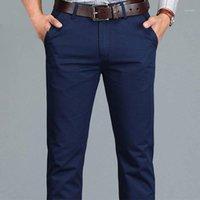 Erkek pantolon fipyjip rahat erkek iş artı boyutu 28 -40 düz pamuklu yüksek kaliteli pamuk1