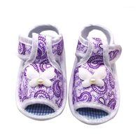 Telotuny Sandalias recién nacidas bebé niñas impresión arco prewalker sandalias suaves sandalias antideslizantes zapatos para niños pequeños niñas de niños Jun81