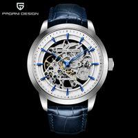 2020 Pagani Design New Brand Brand Luxury Watch Fashion Pelle Uomo Automatico Meccanico Scheletro Impermeabile Orologi Relogio Masculino Y1214