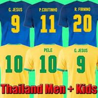 2021 Camiseta de Futbol Paqueta Neres Coutinho 브라질 축구 셔츠 Firmino 예수 축구 유니폼 Marcelo Pele Brasil 20 21 Maillot de Foot