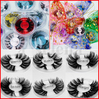 10 styles 100% Mink Eyelash 25MM 3D Mink Eyelashes Makeup 5d...