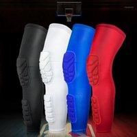 Alta Qualidade respirável longa manga de compressão de basquete ao ar livre Ciclismo de futebol engrenagem prática perna suportada1