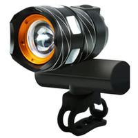 Lampade da bicicletta Lampade da anteriore in bicicletta T6 LED USB ricaricabile in lega di alluminio in lega di alluminio manubrio a prova di pioggia