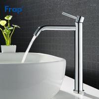FRAP de Alta Qualidade Banheira Pia Bacia Torneira Banheiro Quente e Frio Misturador de Água Tap Banheiro Único Chrome Prata Taps Y10122 / 1231