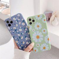 Caso de telefone de flor bonita para iphone 11 pro máximo xs max xr x 6 6 s 7 8 plus 8Plus telefones celulares floral macio tampa tpu