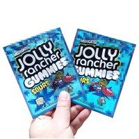 Disponibile Jolly Rancher Gummies Mylar Bags 600mg Borsa da imballaggio alimentare medicata Jolly Rancher Gummies Gummies Aid Edibles Cookie Biscotti Mylar Bag