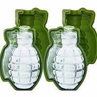 Grenade 3D Gelo Gelo Molde de Granade Molde De Silicone Molde de Cozimento De Silicone Molde De Gelo Molde Cofre Molde DIY Ferramenta DIY VTKY2140