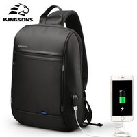 Kingsons Sac à dos d'ordinateur portable à l'épaule imperméable à l'épaule imperméable pour les hommes quotidiennement pour les adolescents